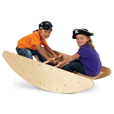 rocking boat wooden rocking boat kids bridge stairs