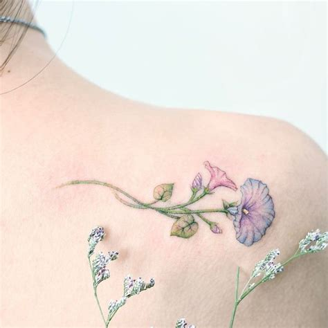 morning glory flower tattoo designs best 25 morning ideas on