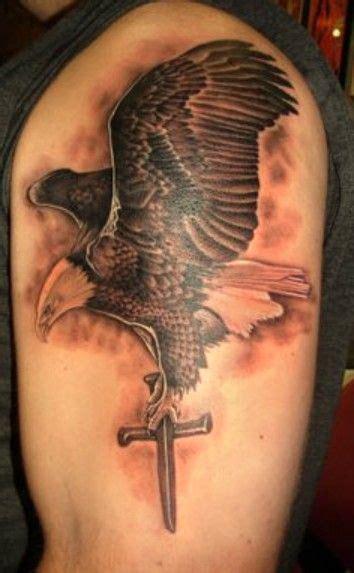 tattoo cross eagle cross tattoos tattoo eagle and eagles on pinterest