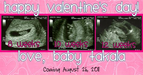 valentines pregnancy announcements show and tell with the takalas february 2011