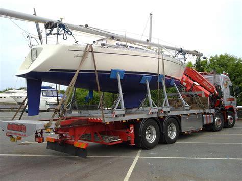 boat transport wales hiab crane hire lorry loader crane jimmybigcrane boat