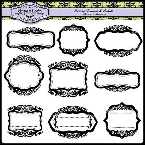 cornici per etichette cornici di lusso ed etichette clipart elegante cornice stile