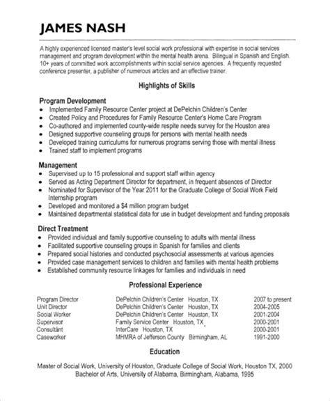 hospice resume 5 free word pdf document downloads