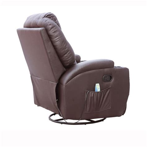 nursing recliner chair cinemo brown leather recliner chair rocking massage swivel