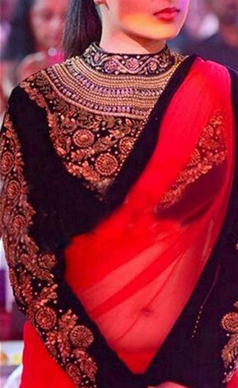 saree net blouse designs buy red net plain designer saree with blouse online