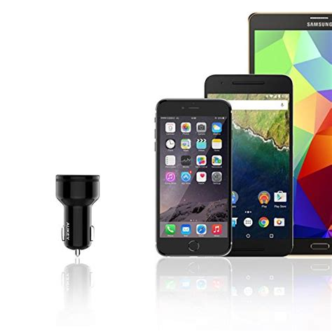 3a Aukey Fast Charger 30 2 Port Adapter Wall Android Iphone Usb aukey usb c car charger with 5v 3a usb c charge 3 0 import it all