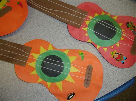 paper guitar craft patties classroom cinco de mayo craft mariachi guitars