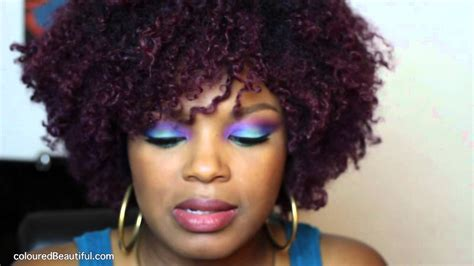 is black a natural hair color purple hair color natural hair youtube