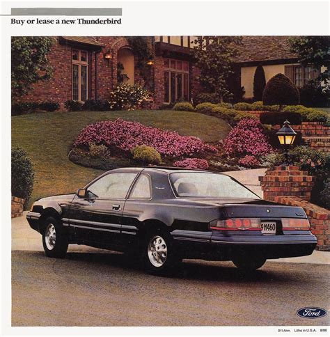 how it works cars 1987 ford thunderbird on board diagnostic system 1987 ford thunderbird brochure