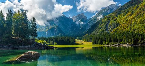 trentin ghiaia laghi di fusine laghi di montagna montagna estate