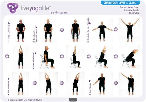 imagenes de yoga en silla chair yoga level 1 class 1 yoga senior pinterest