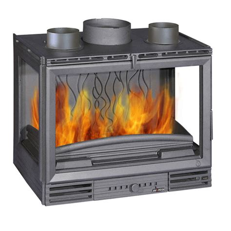 invicta fireplaces turbo 3 sided 700 wood and gas