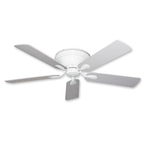 flush mount ceiling fan 52 inch stratus in white