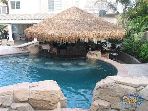 Tiki Hut Backyard Inground Pool Ontario Splash Pools And Construction