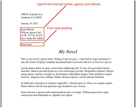 Cover Letter For Query How To Write A Cover Letter For A Literary The Query Letter Writersdigestshop Query