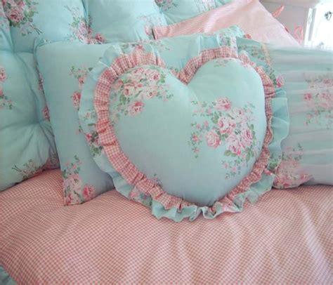 heart ruffled pillow