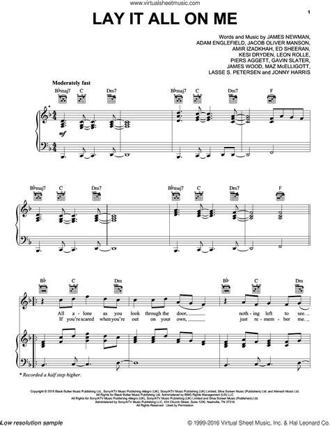 download mp3 rudimental ft ed sheeran lay it all on me sheeran lay it all on me sheet music for voice piano or