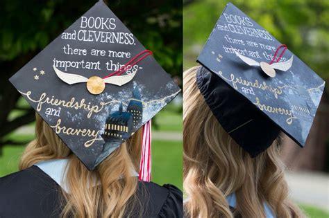 granger college harry potter graduation cap hermione granger quote