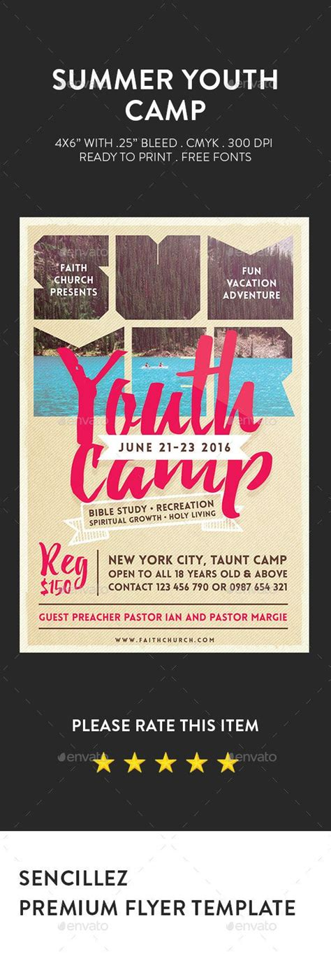 The 25 Best Youth C Ideas On Pinterest Church C Youth Ministry Games And Group Games Youth Flyer Template Free