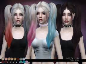 the sims 4 hair leah lillith s leahlillith harley hair