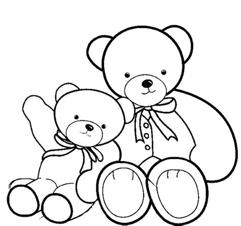 small bear coloring page big and small coloring pages kids coloring page
