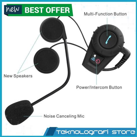 Headset Bluetooth Untuk Helm jual beli headset helm bluetooth motovlog interphone