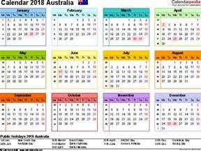 Calendar For Year 2018 Australia Australia Calendar 2018 Free Printable Pdf Templates