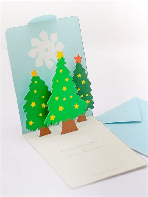 pop up tree card template free pop up card template mookeep origami and