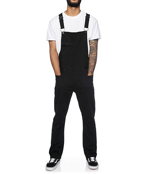 Overall Black T3009 3 kr3w cletus overalls zumiez