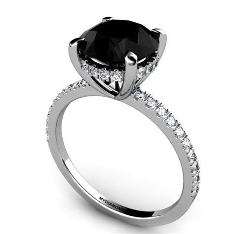 Black Engagement Rings by Black Ring Black Rings For Engagement