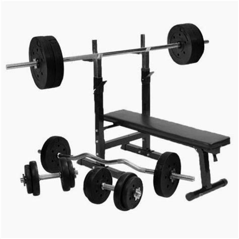 free weights and bench set outdoor home gym bench free weights