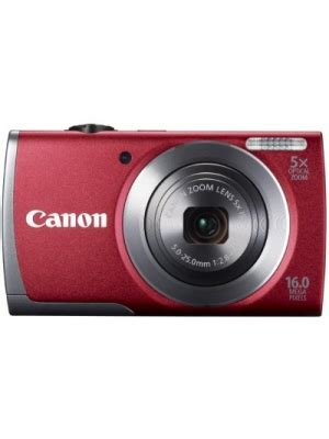 canon a3500 is point & shoot camera(red) price in india