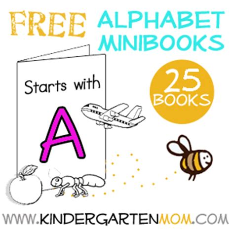 printable alphabet books for kindergarten alphabet minibooks