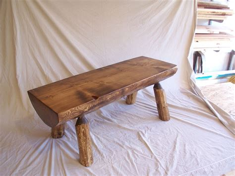 half log bench custom made half log bench by auestad woodworks llc custommade com
