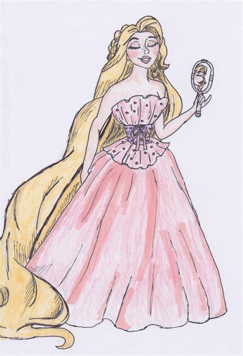 Designer Disney Rapunzel By Thegirlonxboxlive On Deviantart How To Draw A Disney Princess Dress Free Coloring Sheets