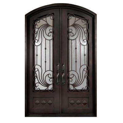 Double Door Iron Doors Front Doors The Home Depot Glass And Iron Doors