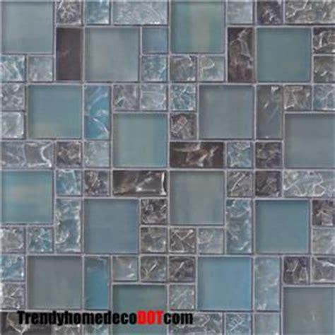 crackle glass tile backsplash sle blue matte crackle glass mosaic tile backsplash ebay