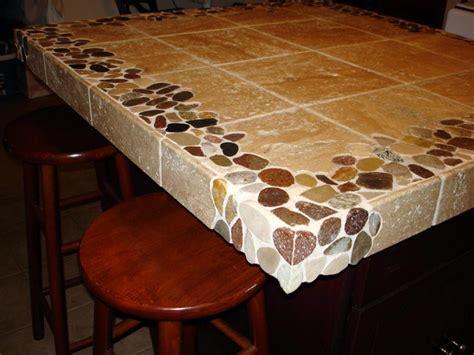 Tile Kitchen Island Countertop Kitchen Countertops New Jersey Custom Tile