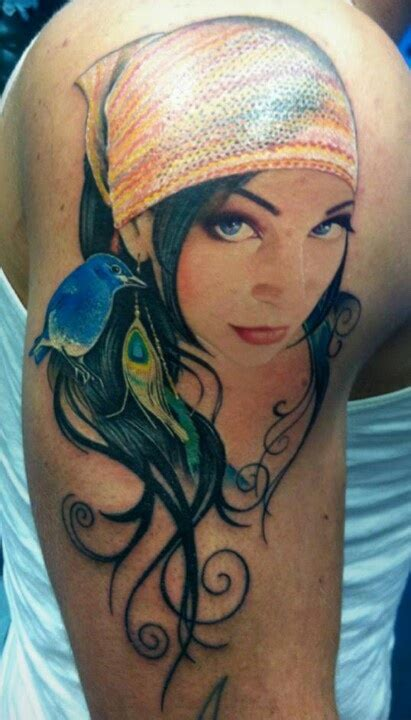 tattoo gypsy girl gypsy girl tattoo awesome tattoos pinterest
