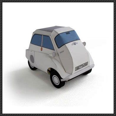 free paper models bmw isetta and paper models on