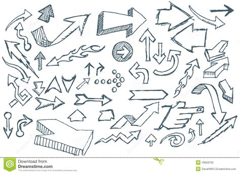 doodle and sketchbook a coloring activity and doodle book for of all ages books doodle arrows stock photo image 19659750