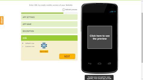 membuat website launcher android cara membuat website kita menjadi apk android kinekaru