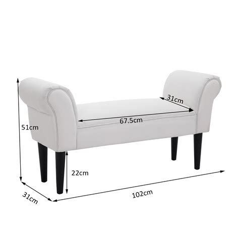 end of bed chaise lounge homcom bed end side chaise lounge sofa white bedroom