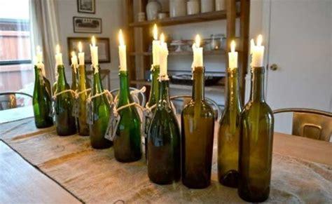 wine bottles with candles in them diy deko aus glasflaschen 20 inspirierende beispiele und