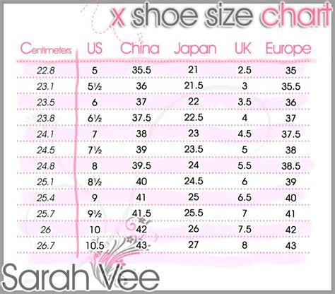 asian shoe size asian size chart shoes always pretty