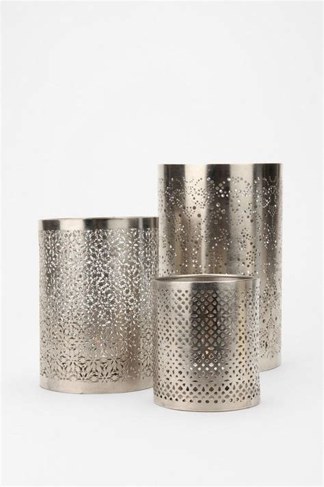 punched metal votive candle holder my nuptials