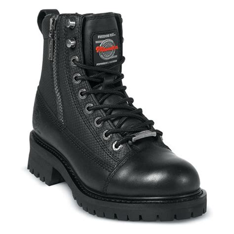 motorcycle boots mens s milwaukee 174 accelerator zip boots black 132399