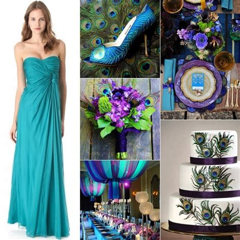 peacock wedding colors peacock wedding inspiration by linentablecloth