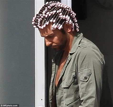 image gallery his hair in curlers bradley cooper shows off his perm onset with jennifer