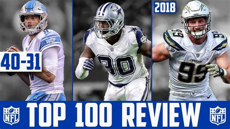players 100 reviews nfl top 100 players of 2018 reaction 40 31 nfl top 100